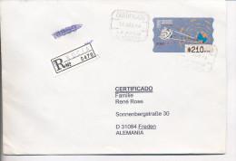 Gelaufener Einschreibebrief (R-letter) Von Spanien Nach Deutschland, 1996 - *) - Luftpost