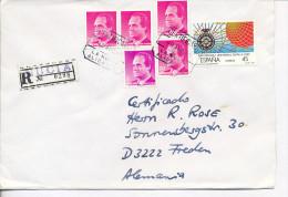 Gelaufener Einschreibebrief (R-letter) Von Spanien Nach Deutschland, 1998 - *) - Luftpost