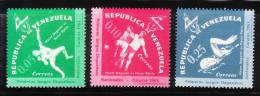 Venezuela 1962 1st National Games Caracas Shot Put Soccer MNH - Venezuela