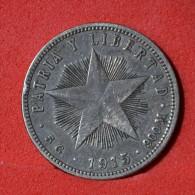 CUBA  20  CENTIMOS  1915  SILVER COIN KM# 13,2  -    (Nº05935) - Cuba