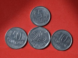 BRAZIL        4 COINS   -    (Nº05938) - Munten & Bankbiljetten