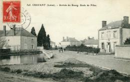 CRAVANT Loiret Arrivée Au Bourg Ecole Filles Cantonnier Adressé à école Primaire Supérieure Jeune Filles Meung Sur Loire - France