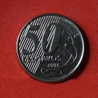 BRAZIL  50  CENTAVOS  2002   KM# 651a  -    (Nº05939) - Brésil