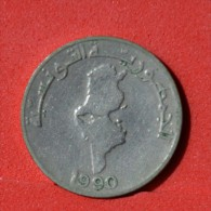 TUNISIA  1/2  DINAR  1990   KM# 318  -    (Nº05944) - Tunisie