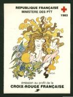 Carnet Croix Rouge CR 1983 N° 2032  Oblitéré Rouge   Cote Y&T   11,00  €uro  Au Quart De Cote - Booklets