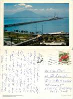 Penang Bridge, Malaysia Postcard Posted 1990 Stamp - Malaysia