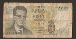 België Belgique Belgium 15 06 1964 20 Francs Atomium Baudouin. 1 J 1741296 - [ 6] Treasury