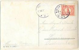 4cp-836: Fantasiekaartje Met 1 Cent: NIEUWENHOORN 19 AUG 12 > Oostvoorne - Periode 1891-1948 (Wilhelmina)