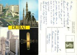 Dubai, UAE Postcard Posted 1988 Stamp MARITIME MAIL - United Arab Emirates