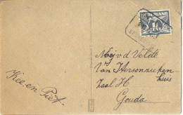 4cp-835: Fantasiekaartje Met 1½ Cent: OOSTVOORNE / 6.VII 46 / SPIJKERNISSE - Lettres & Documents
