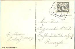 4cp-829: Fantasiekaartje Met 1½ Cent: OOSTVOORNE / 17.I. 406 / SPIJKERNISSE > Reewijk - Lettres & Documents