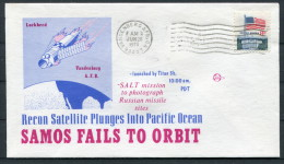 1973 USA Vandenberg Air Force Base Space Rocket Cover SAMOS - Covers & Documents