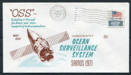 1974 USA Vandenberg Air Force Base Space Rocket Cover SAMOS OSS - Covers & Documents