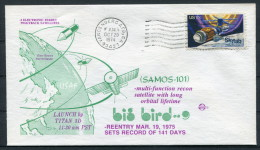 1974 USA Vandenberg Air Force Base Space Rocket Cover SAMOS 101 - Covers & Documents