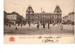 C P A---BELGIQUE----BRUXELLES ------gare Du Nord-----voir 2 Scans - Spoorwegen, Stations