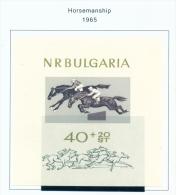 BULGARIA  -  1965  Horsemanship  Miniature Sheet  Unmounted Mint - Neufs