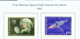BULGARIA  -  1961  Air  Manned Space Flight  Mounted Mint - Neufs