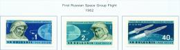 BULGARIA  -  1962  Air  Team Space Flight  Mounted Mint - Neufs