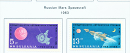 BULGARIA  -  1962  Air  Mars 1 Space Station  Mounted Mint - Neufs