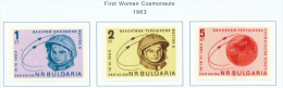 BULGARIA  -  1963  Air  Team Space Flight  Mounted Mint - Neufs