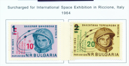 BULGARIA  -  1964  Air  Cosmic Exhibition  Mounted Mint - Neufs