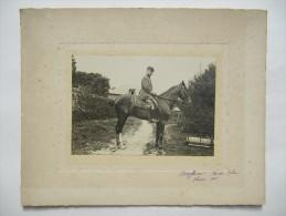 AVERGOINT - Pas De Calais - Photo Contrecollée Sur Carton Fort - Offier à Cheval - Guerre 1915 - Guerre, Militaire