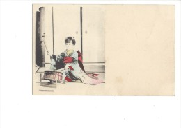 9246 - Geisha Avec Tambourin - Japon