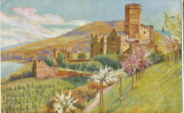 Lahnstein Chateau De Lahneck Art Card For Chocolaterie Aiguebelle Advert Chocolate - Lahnstein