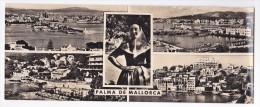 PALMA ( MALLORCA ) Carte Panoramique ( 22.5 X 9 Cm ) Multivues - Palma De Mallorca