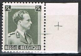 Année 1938 -  480** -  SM Le Roi Leopold III -  76c Gris Olive  - Bord De Feuille  -   Cote 0,75 € - Bélgica