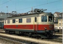 SUISSE : Chemins De Fer Fédéraux Suisses SBB-CFF : Locomotive électrique Re 4/4 I - Détails 2ème Scan - Trains