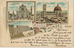 Ricordo Di Firenze Litho Carlo Ottavo Hayd Monaco Baviera No 1019 Fratelli Micotti P. Used 1895 - Firenze (Florence)