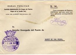 1577   Carta La Coruña 1978  Franquicia Puertos De La Coruña - 1931-Today: 2nd Rep - ... Juan Carlos I