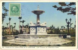 4cp905: CUBA - 39  Fuente De Los Leones ( Plaza De La Fraternidad). Lion Fountain At Fraternity's Place - Postkaarten
