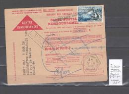 Formule Mandat Avec Griffe Linéaire Gare De Bordeaux  - Refusé -1958 + Cachet La Chapelle Sous Aubenas - Ardéche - Postmark Collection (Covers)