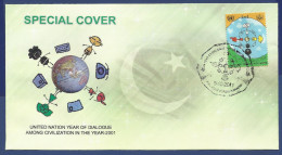 PAKISTAN MNH 2001 SPECIAL COVER UNITED NATION YEAR OF DIALOGUE AMONG CIVILIZATION IN THE YEAR - Pakistan