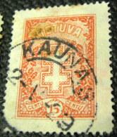 Lithuania 1926 Protective Cross 15c - Used - Lithuania