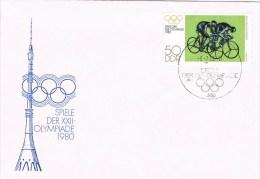 7764. Carta BERLIN (Alemania DDR) 1980. Ilympiade. Ciclismo - Ciclismo