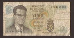 België Belgique Belgium 15 06 1964 20 Francs Atomium Baudouin. 1 S 4918056 - [ 6] Treasury