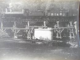 Photo Train Locomotive Originale Ligne De Chemin De Fer D´intérêt Local Decazeville/Capdenac Vers 1900. 23 X 16.5 - Trains