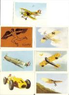 Image Chocolat Tobler L´automobile N°56, L´Aviation Série1 Vignettes N° 1,6,22,23,24,54 - Vieux Papiers