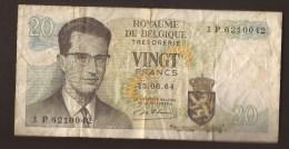 België Belgique Belgium 15 06 1964 20 Francs Atomium Baudouin. 1 P 6210042 - [ 6] Treasury