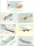 Image Chocolat Tobler L´Aviation Série1 Vignettes N° 26,32,49,51,67,68,69. - Vieux Papiers
