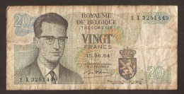 België Belgique Belgium 15 06 1964 20 Francs Atomium Baudouin. 1 I 3251449 - [ 6] Schatzamt