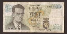 België Belgique Belgium 15 06 1964 20 Francs Atomium Baudouin. 1 M 8876548 - [ 6] Treasury