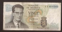 België Belgique Belgium 15 06 1964 20 Francs Atomium Baudouin. 1 I 3633802 - [ 6] Schatzamt