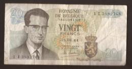 België Belgique Belgium 15 06 1964 20 Francs Atomium Baudouin. 1 I 3882768. - [ 6] Schatzamt