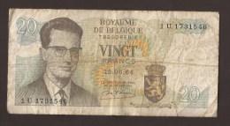 België Belgique Belgium 15 06 1964 20 Francs Atomium Baudouin. 1 U 1731546. - [ 6] Treasury