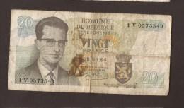 België Belgique Belgium 15 06 1964 20 Francs Atomium Baudouin. 1 V 0573549. - [ 6] Staatskas