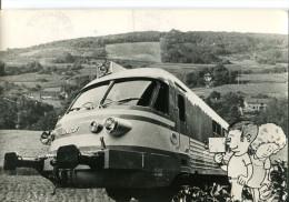 CPSM FORMAT ACTUEL  -  LE CINÉMA FERROVIAIRE  -  SERVICE CINÉMA -  SNCF - Trenes